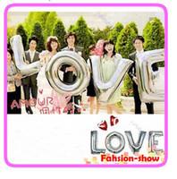 big decoration letters - Wedding Festival Decoration Mylar Foil Balloon Big Letter LOVE Alphabet Silver Party