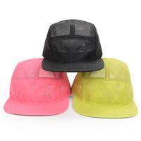 mesh snapback hats - Colors Spring Summer Pink Black Panel Mesh Caps High Quality Snapback Hats Breathable Sun Cap Snap Back Goldtop