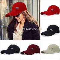 baseball visors - Mens Womens Sport Baseball Caps Plain Adjustable Hat Curved Visor Golf Peak brand fitted football basketball cap