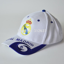 Wholesale high quality real madrid caps embroidery AC Milan sport hats Football Souvenirs factory direct