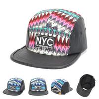 Wholesale-2015 de la nueva manera de NYC béisbol Strapback gorras y los casquillos para los hombres Mujeres HIPHOP 5 PANEL Snapback barato de calidad superior Goldtop