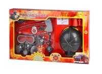 Precio de Fire extinguisher-Al por mayor-Simulación disparar las herramientas establecidas máscaras de gas juguete casco de bombero extintor de incendios capitalización de los niños