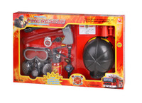 Wholesale Simulation fire the tools set fire cap children s toy fireman helmet fire extinguisher gas masks