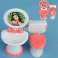bathroom furniture sets - Dollhouse Furniture Bathroom Set Toilet and Sink