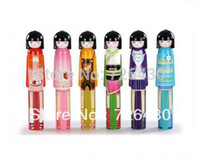 Wholesale Novelty Kokeshi Doll Folding Umbrella Japanese Dolls Cute Bottle Folding Kimono Girl Traditional Umbrella