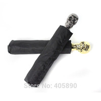 Wholesale New Hot Skull Umbrella Luminous Triple Folding Umbrella
