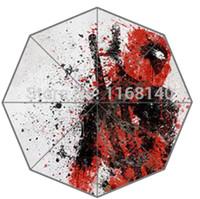 advertising abstract - New Advertising automatic umbrella customize deadpool abstract comic hero outdoor folding sun protection umbrellas logo