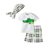 baby girl clothes monkey - Turban short shirt pants Monkey Baby suit Baby Clothes Set Y033