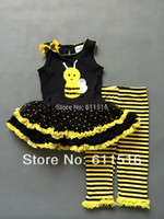 bee nice - Super nice Rare editions yrs girl cotton small bee yellow vest dress and tights summer suit