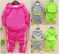 Wholesale Autumn Children s velor leisure suit children suit children cotton sweater jogging shampooers sportswear