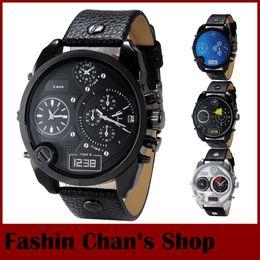 Wholesale Newest DZ Watch Dule Time Zone Fashion Watches For Men Genuine Leather Strap Military Quartz Male Clock Relogio Masculino