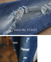 best maternity jeans - Best Selling Maternity Elastic Waist Jeans Pregnant Women Belly Pants Distressed Denim Trousers Fashion Full Length Pants M XXL