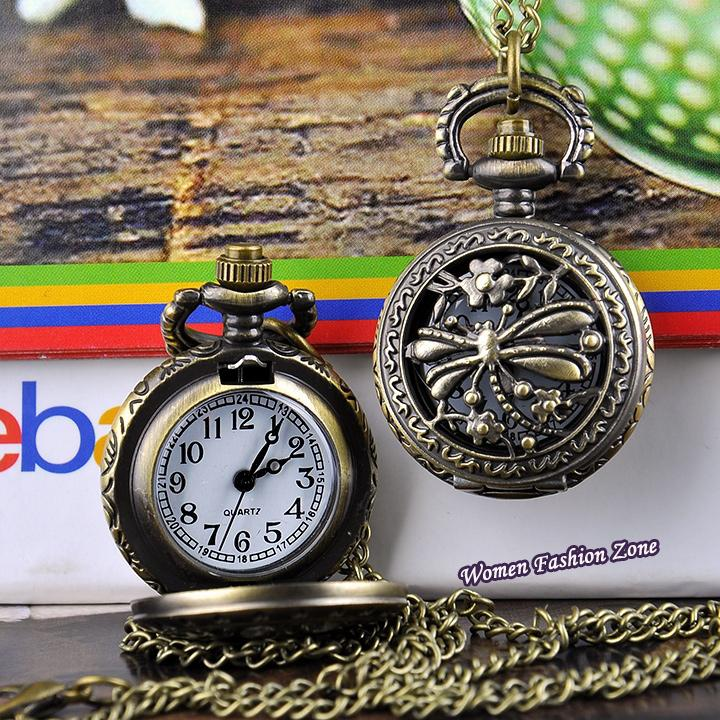wholesale new fashion pocket watches dragonfly hollow