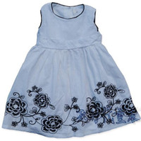 Wholesale LABEL CUT Girls embroidery one piece dress Dresses Dress Overalls Skirts dresses N131