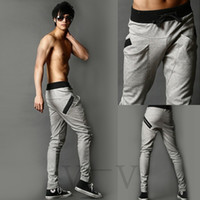 big mens trousers - New Mens Boys Fashion Harem Sports Dance Sweatpants Big Pockets Pants Baggy Jogging Casual Trousers Color Size M L XL XXL