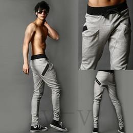 Wholesale New Mens Boys Fashion Harem Sports Dance Sweatpants Big Pockets Pants Baggy Jogging Casual Trousers Color Size M L XL XXL