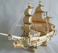 Wholesale New fancy D model ship WOODEN PUZZLE DIY WOODCRAFT CONSTRUCTION KIT handmade Pirate Ship