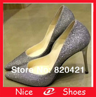 Cheap Wholesale-in spring 2015 new female Korean nightclub Pointed shoes with thin heels wedding shoes prom silver shoes