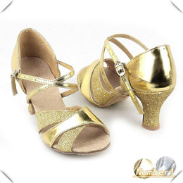 Wholesale-2015 New Fashion Women's Sexy Dance Shoes For Latin Ballroom Salsa Tango Glitter Shoes