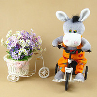 battery operated ride - Electronic electric pet donkey Riding a bicycle tricycle can move feet children love toy