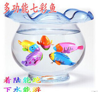 baby roads - fish gills and tail will move on the chain clockwork colorful fish swim in water walk on road children toy baby toys