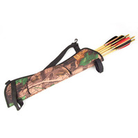 arrow bags archery - New Arrival Camo Archery Hunting Bow ARROW BACK SIDE QUIVER Holder Bag w Zipper Pocket