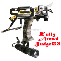 powerful flashlight - Fully Armed Powerful Judge G3 Hunting Slingshot Catapult Camouflage Military Panther Sling Shot With Arrow Rest Flashlight