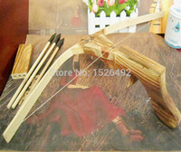 bow and arrow gun - Hot Sale Cross Bow Gun Set Wooden Archery Crossbow Bow and Arrow