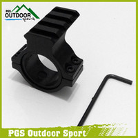 Cheap Wholesale-Air Gun Airsoft Hunting Rifle 30mm Ring Scope Flashlight Mount Adaptor Clamp With 20mm Weave Picatinny Rail Free Shipping