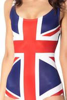 animal union - Union Jack British UK Flag one piece swimsuit leotard