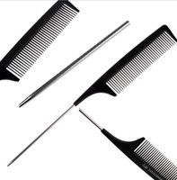 Wholesale Metal Pin Hairdressing Hair Style Rat Tail Comb for hair cutting Black quot New