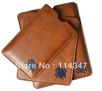 Wholesale Google Android Robot Pattern Protective Leather Case for inch Tablet Ainol Teclast Icoo Ampe Onda Cube Ployer