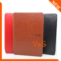 amazon leather bags - Kindle leather case for Amazon kindle WIFI G with kindle logo