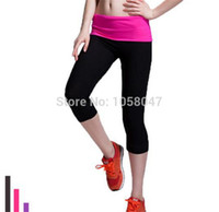 basic boots - Brand Sexy Women Seamless Basic Sports Wear Solid Stretch Sports Leggings Skinny Cropped Pants