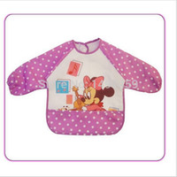 baby bibs apparel - Baby bib gt apparel with mouse or bear pattern gt baby girls and boys gt Waterproof feeding smock vesture HT42