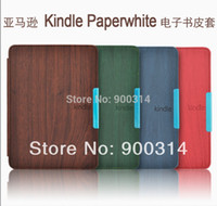 amazon paperwhite cover - Wood Pattern case funda for Amazon Kindle Paperwhite ereader e Books Cover Case screen protector stylus pen