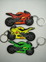 Wholesale Double two surface Motorcycle Racing Keychain piece per