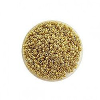 Wholesale 1000g Glass mm Seed beads jewelry accessory Inside Dyed Gold tone bead