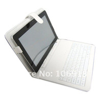 archos tablet keyboard - Black White Leather Case USB Keyboard Film Stylus For quot Ainol Novo Hero Cube U30GT ARCHOS xs Tablet Free