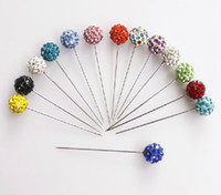 african scarves - scarf stick pin Hijab pins crystal scarf pin shiny crystal full ball shaped fixed safety pin mixed colors pc free ship