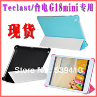 Cheap Wholesale-2015 new hotsale Original fashion ultra thin leather case for Teclast g18 mini 7.9 '' with blue black pink screen
