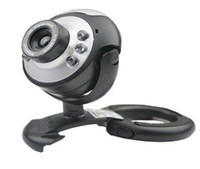 Wholesale 1pcs Mega USB LED Webcam Web Cam Camera PC Laptop Mic Very Portable Built in Microphone