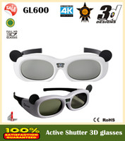 3d active shutter glasses - Cheaper price GL600 Children Series HZ DLP D glasses D active shutter glasses connect all DLP projectors links