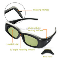 3d active shutter glasses - Rechargeable Active Shutter Bluetooth D Glasses projecor Glasses for EPSON Projector ELPGS03