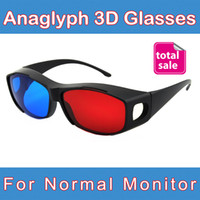 best anaglyph glasses - pieces Best Selling Complementary Inficolor Anaglyph Red Blue D Glasses for Normal TVs Projector and Monitors
