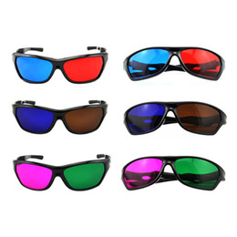 Wholesale pieces Best Selling Acrylic mm Lens Anaglyph D Glasses Suit for DVD Games on Normal Monitors and Laptops