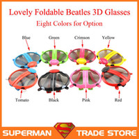 beatles tv - Foldable Kid Polarized Passive Cinema D Glasses for D RealD Cinema and D TV with LG Multi Color Beatles Frame