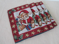 Wholesale Quality hemp cotton christmas series placemat cartoon table napkin mats cm