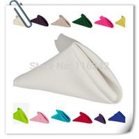 Wholesale cm cm White Wedding Napkins Cloth Napkins fabric table napkins