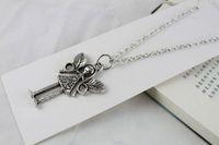 3PCS Tibetan Silver Fairy Pendant Necklace #20080